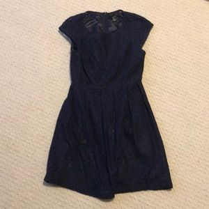 Navy Lacey Dress